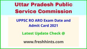 UPPSC Sahayak Samiksha Adhikari Exam Hall Ticket 2021