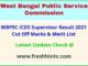 West Bengal Anganwadi Supervisor Results Selection List 2021