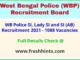 West Bengal Police SI Bharti Notification 2021 Full Details