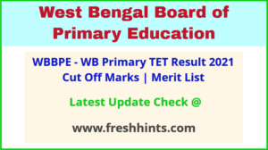 West Bengal Primary TET Exam Results 2021