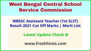 West Bengal SSC 1st SLST 2020 Exam Results 2021
