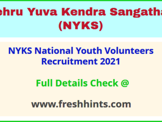 NYKS National Youth Volunteers Recruitment 2021