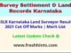 Bhoomi Karnataka Land Surveyor Selection List 2021