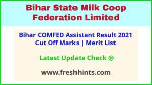 Bihar Milk Cooperative Assistant Selection List 2021