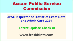 Directorate of Economics and Statistics Assam Admit Card 2021