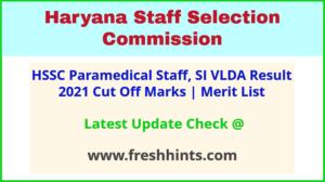 Haryana Paramedical Staff Exam Results 2021