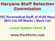 Haryana Paramedical Staff Exam Results 2021