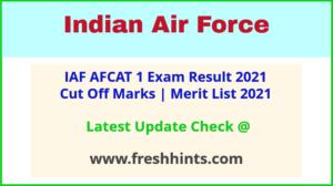 IAF AFCAT Selection List 2021
