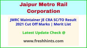 Jaipur Metro Rail Junior Engineer Results Selection List 2021