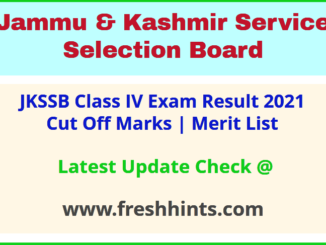 Jammu and Kashmir SSB Class IV Selection List 2021