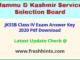Jammu Kashmir SSB Class 4 Question Paper Solution Key 2021
