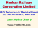 KRCL Technician-III Results Selection List 2021