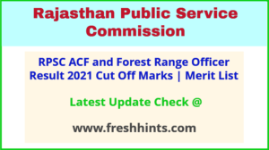 Rajasthan Assistant Conservator of Forest FRO Selection List 2021