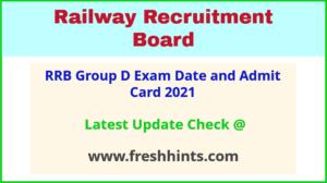 RRC Group D Exam Hall Ticket 2021
