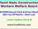 TN Labour Department Clerk Driver Selection List 2021
