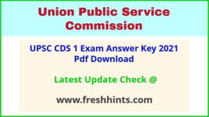Union Public Service Commission CDS Question Paper Solution Key 2021