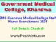 GMC-khandwa-medical- college -staff- nurse -recruitment -2021
