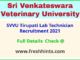 SVVU Tirupati Lab Technician Recruitment 2021