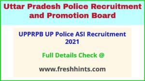UPPRPB police ASI recruitment 2021
