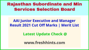 Airport Authority of India JE ATC Selection List 2021