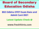 BSE Odisha OTET Hall Ticket 2021
