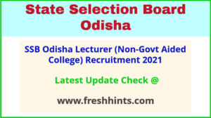 DHE Odisha College Lecturer Vacancy 2021