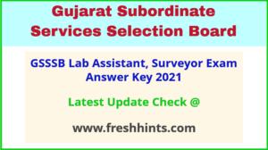Gujarat Laboratory Assistant Answer Sheet 2021