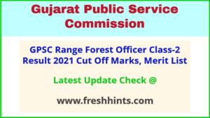 Gujarat Range Forest Officer Selection List 2021