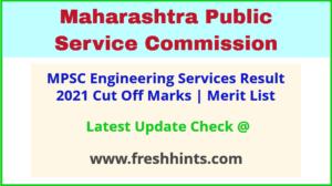 Maharashtra Engineering Services Selection List 2021