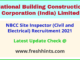 NBCC India Limited Site Inspector Vacancy 2021