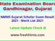 NMMS Gujarat Scholar Exam Selection List 2021