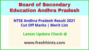NTSE Andhra Pradesh Selection List 2021