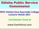 Odisha Lecturer Selection List 2021