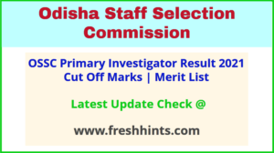 OSSC Primary Investigator Selection List 2021