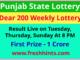 Punjab Lottery Dear 200 Weekly Winner List 2021