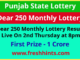 Punjab Lottery Dear 250 Monthly Winner List 2021