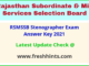 Rajasthan Steno Exam Answer Sheet 2021