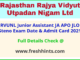 Rajasthan Vidyut Vibhag LDC Stenographer Hall Ticket 2021