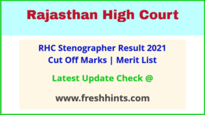 RHC Steno Selection List 2021