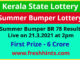 Kerala Lottery Summer Bumper Winner List 2021
