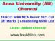 Tamil Nadu MBA MCA Entrance Exam Rank List 2021