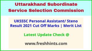 Uttarakhand PA Steno Selection List 2021
