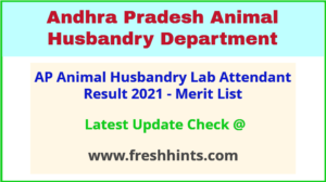 AP AHD Lab Attendant Results Selection List 2021
