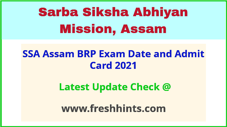 Assam Block Resource Person Exam Admit Card 2021