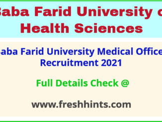 baba farid university medical officer recruitment 2021