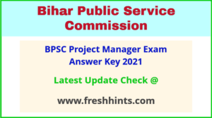 Bihar Project Manager Answer Sheet 2021