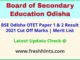 BSE Odisha TET Results Selection List 2021