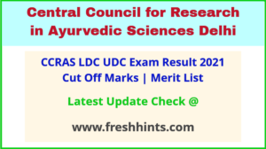 CCRAS Lower Division/ Upper Division Clerk Selection List 2021