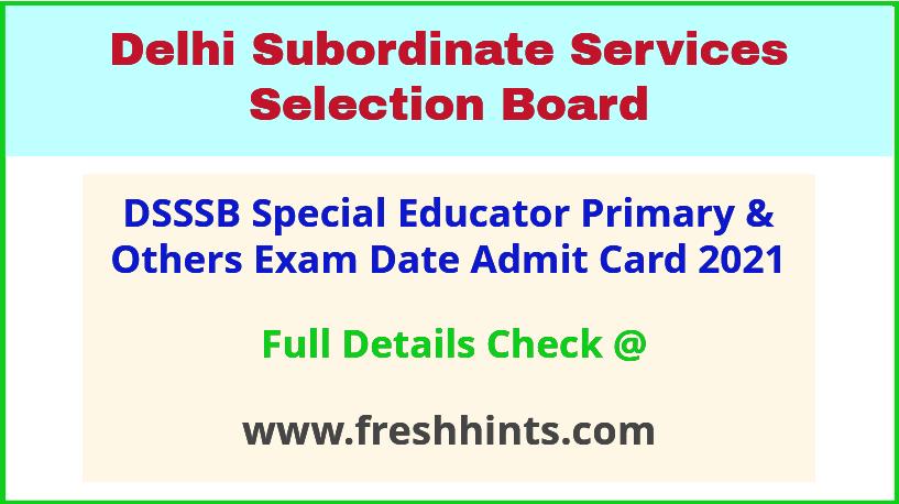 delhi-dsssb-exam-hall-ticket-2021