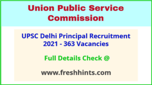 Delhi Govt Principal Vacancy 2021